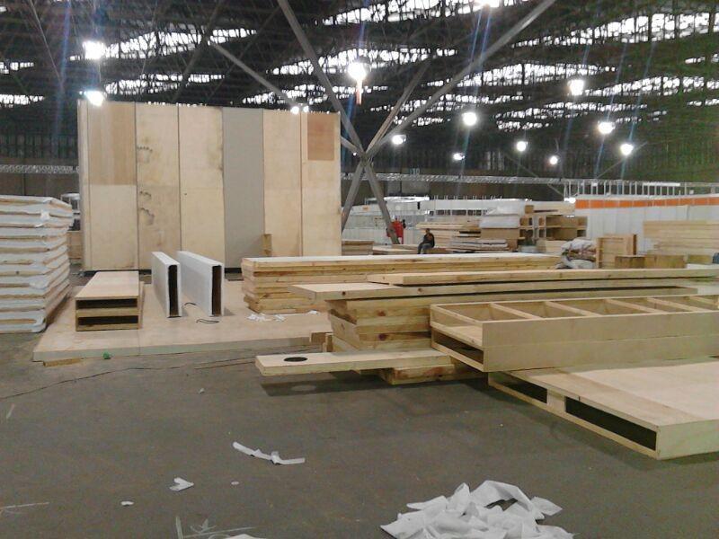 Construção de stands para feiras